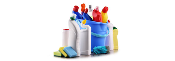 أدوات ومواد التنظيف